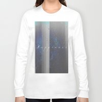 happiness Long Sleeve T-shirts featuring Happiness by Jane Lacey Smith