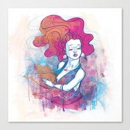 Au travers Canvas Print
