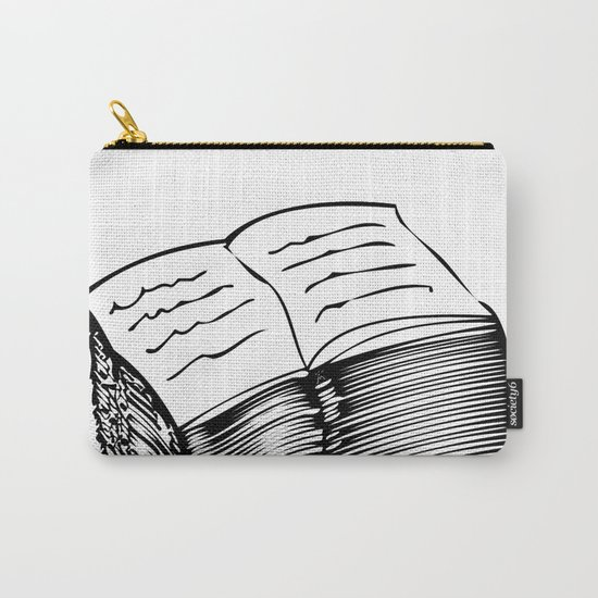 A-Z / Black on White Carry-All Pouch