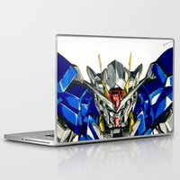 gundam Laptop & iPad Skins featuring Gundam 00 by Glen Howy