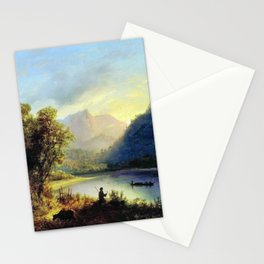 Mountain Lake 1852 By Lev Lagorio | Reproduction | Russian Romanticism Painter Stationery Cards