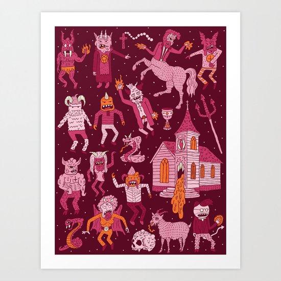 Wow! Demons!  Art Print
