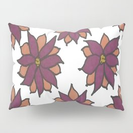 Holiday Two-Toned Flowers Pillow Sham
