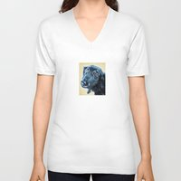 sam smith V-neck T-shirts featuring Sam by Lindsay Larremore Craige