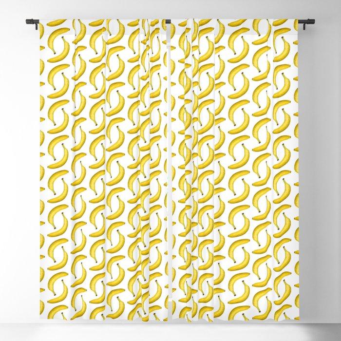 Yellow ripe banana Blackout Curtain