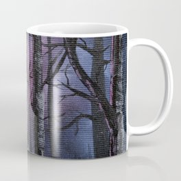 """""""into the woods"""" a night forest landscape in oil Coffee Mug"""