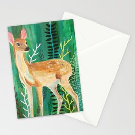 Painted Deer by June Jewell Stationery Cards