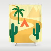 camping Shower Curtains featuring Camping by Mr and Mrs Quirynen