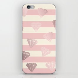 Diamonds & stripe iPhone Skin
