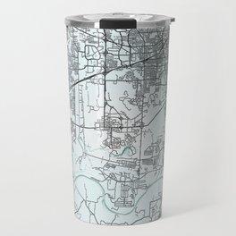 Huntsville, AL, USA, White, City, Map Travel Mug