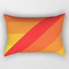 Turning Corners - Orange Yellow Hues Rectangular Pillow