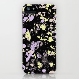 Decay Pattern, Pebbles in Black Light iPhone Case