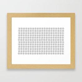 Penny Farthing Monogram Framed Art Print