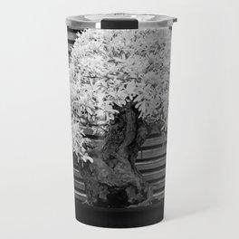 A Bonsai Olive Tree Thrives in a Japanese Garden Travel Mug