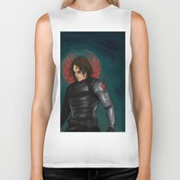 the winter soldier Biker Tanks featuring Winter Soldier by toibi