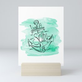 Live A Salty Life Mini Art Print
