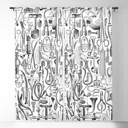 Medical Condition B&W Blackout Curtain
