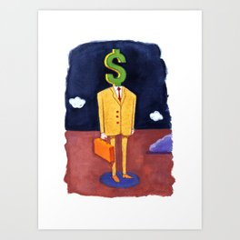 Money Man Art Print