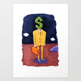 Money Man Art Print