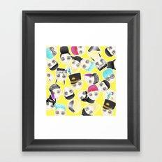 BIGBANG Collage (Yellow) Framed Art Print
