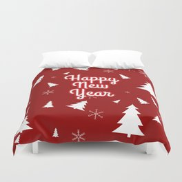 New Year, Christmas, winter holidays illustration New Year, Christmas, winter holidays illustration Duvet Cover