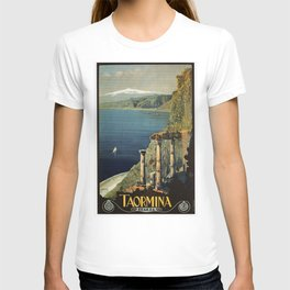 Vintage Taormina Sicily Italian travel ad T-shirt