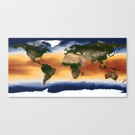 A Portrait of Global Sea Surface Temperatures Canvas Print