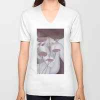 lily V-neck T-shirts featuring Lily by Jumei