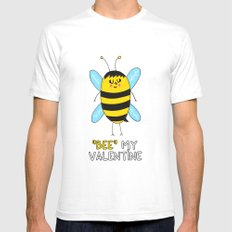 BEE my Valentine White SMALL Mens Fitted Tee