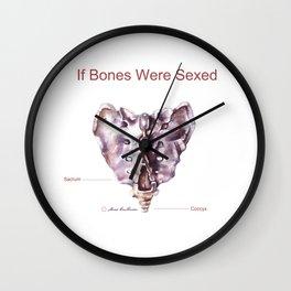 If Bones Were Sexed - Sacrum Wall Clock
