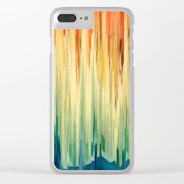 Pixel Sorting 58 Clear iPhone Case