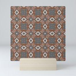 Gray Brown Taupe Beige Tan Black Hip Orient Bali Art Mini Art Print