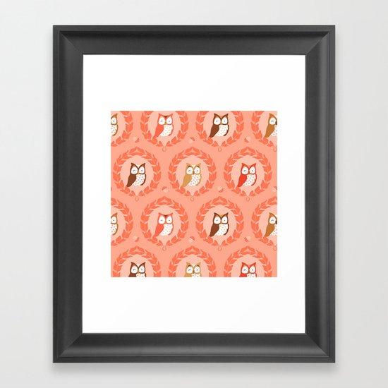 Sweet Owlies - Dawn Framed Art Print