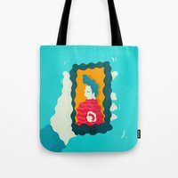 drunk Tote Bags featuring Drunk Dialing by Mark Conlan