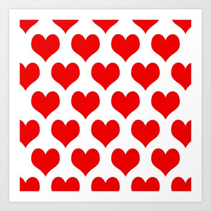 Holidaze Love Hearts Red Kunstdrucke