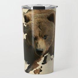Alaskan Grizzly Map Travel Mug