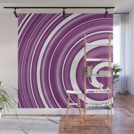 lollipop in white and purple Wall Mural