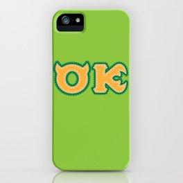 Monster University Fraternity : Oozma Kappa iPhone Case
