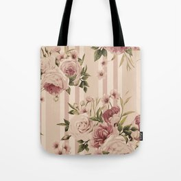 Flowers and Stripes Two Tote Bag
