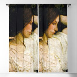 Girl Arranging Her Hair - Abbott Handerson Thayer Blackout Curtain
