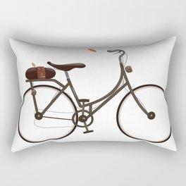 Cycling cartoon poster Rectangular Pillow
