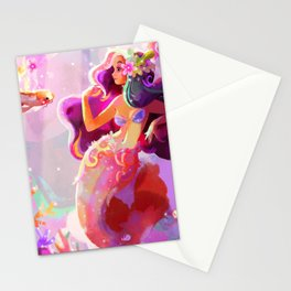 Neon Koi Stationery Cards