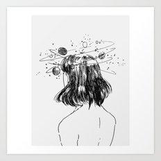 space head Art Print