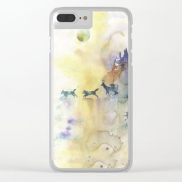Moony, Wormtail, Paddfoot, and Prongs Clear iPhone Case