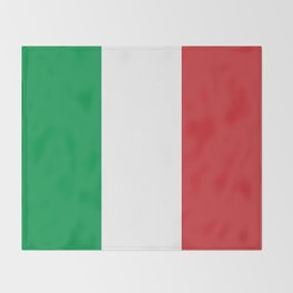 Flag of Italy, High Quality Authentic Throw Blanket