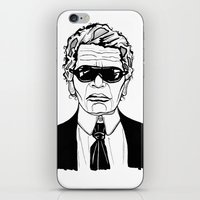 karl lagerfeld iPhone & iPod Skins featuring Uncle Karl Lagerfeld by Thompson ET Julienne