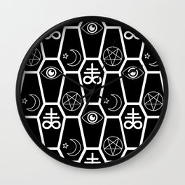 death and stuff Wall Clock