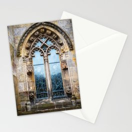 Stained glass window of Rosslyn Chapel outside Edinburgh, Scotland Stationery Cards