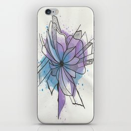 Explosion Flower Blue and Purple iPhone Skin