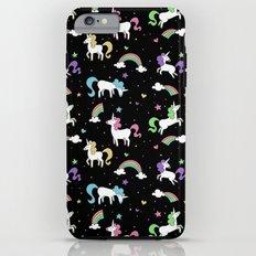 Unicorns and Rainbows - black -tiny iPhone 6 Plus Tough Case